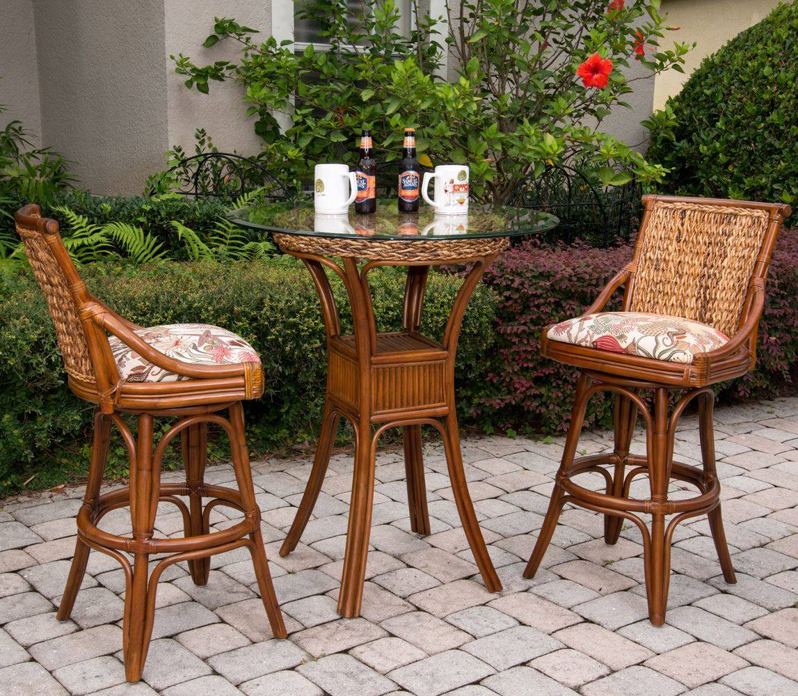 Balboa Barstool Sienna Finish Wicker One Imports Your Casual Furniture Store In Orlando