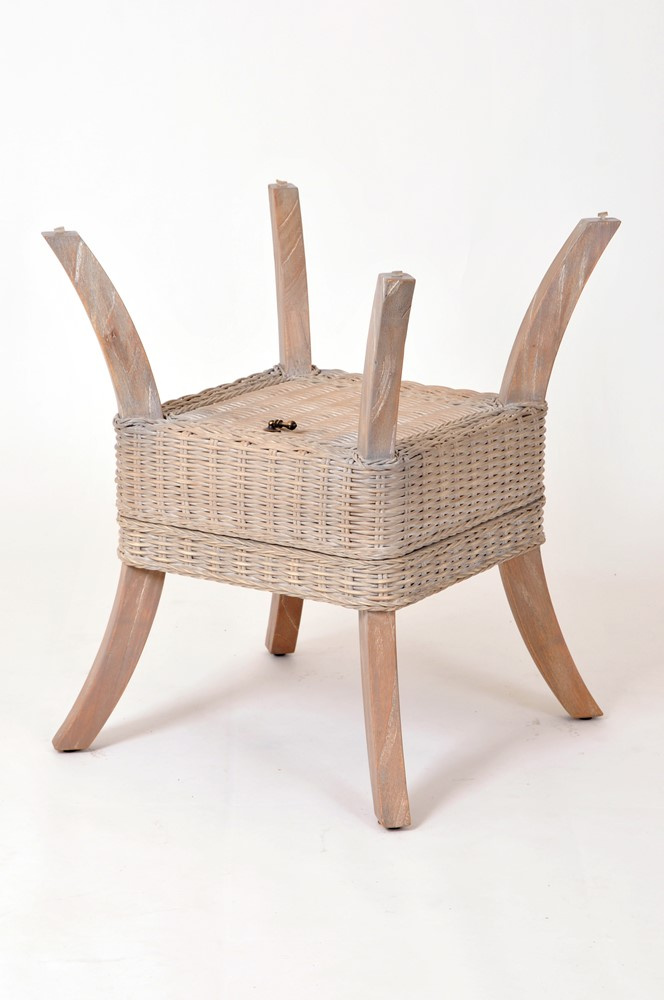 belize dining table base rustic driftwood finish wicker one imports your casual furniture. Black Bedroom Furniture Sets. Home Design Ideas