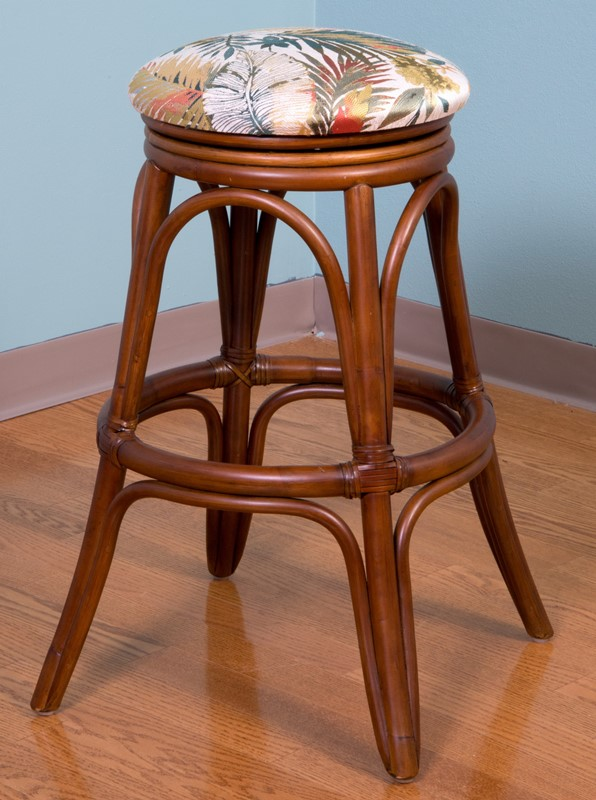 Universal Backless Barstool 24 Sienna Finish Wicker One Imports Your Casual Furniture